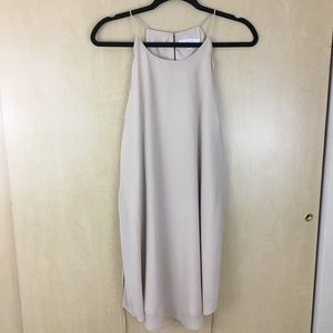 ANTHROPOLOGIE Lost April Nude Scallop Belted Dress